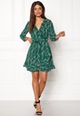 ONLY Ditte 3/4 Wrap Dress Posy Green