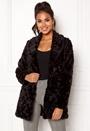 ONLY Holly Fur Coat Black Bubbleroom.dk