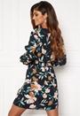 Nova Lux S/L V-Neck Smock Dress