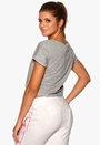 ONLY PLAY Rachelle Cropped Tee Light Grey Melange