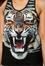 ONLY PLAY Tiger Tank Top Black