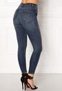 ONLY Posh HW Cropped Jeans Dark Blue Denim