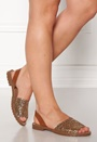 Mercy Leather Glitter Sandal