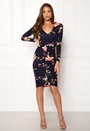 Rouch Front Midi Dress