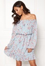Sisters Point NETTO-1 Dress Sky blue flower Bubbleroom.no