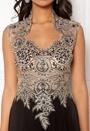 Embellished Mesh Dress