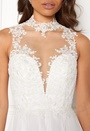 Open Back Embroided Dress