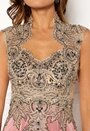 SUSANNA RIVIERI Embellished Maxi Dress Rose
