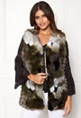Patchwork Faux Fur Gilet