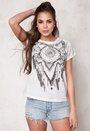 VERO MODA Lanny s/s T-shirt Snow White Bubbleroom.fi