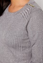 VERO MODA Nimbo LS Button Blouse Light Grey Melange