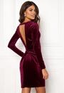 Fulla L/S Open Back Dress