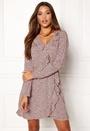 VILA Novana Wrap Dress Adobe Rose