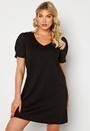 Tinny V-Neck S/S Puff Sleeve Dress