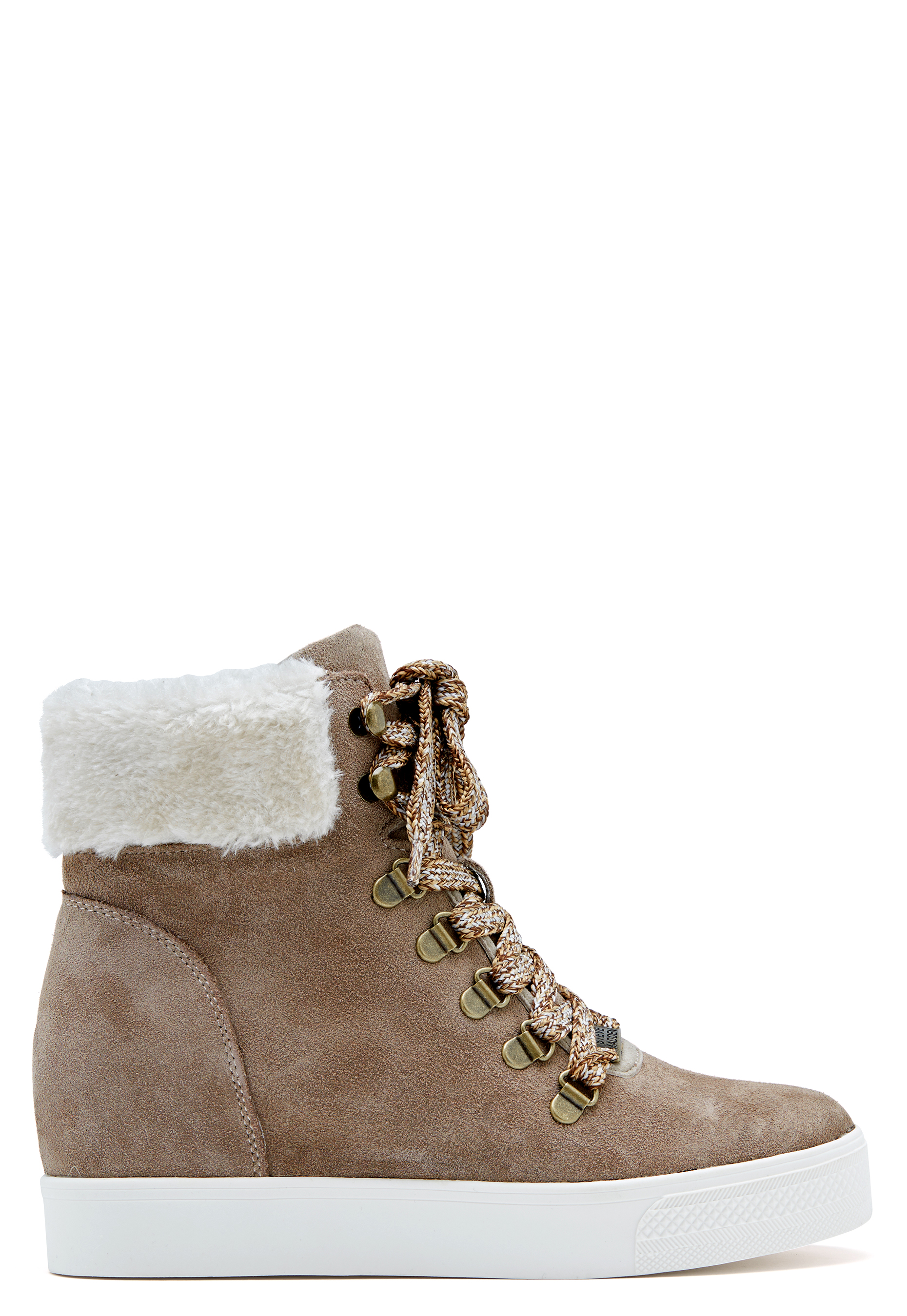 Steve Madden Windy Suede Boots Taupe Bubbleroom
