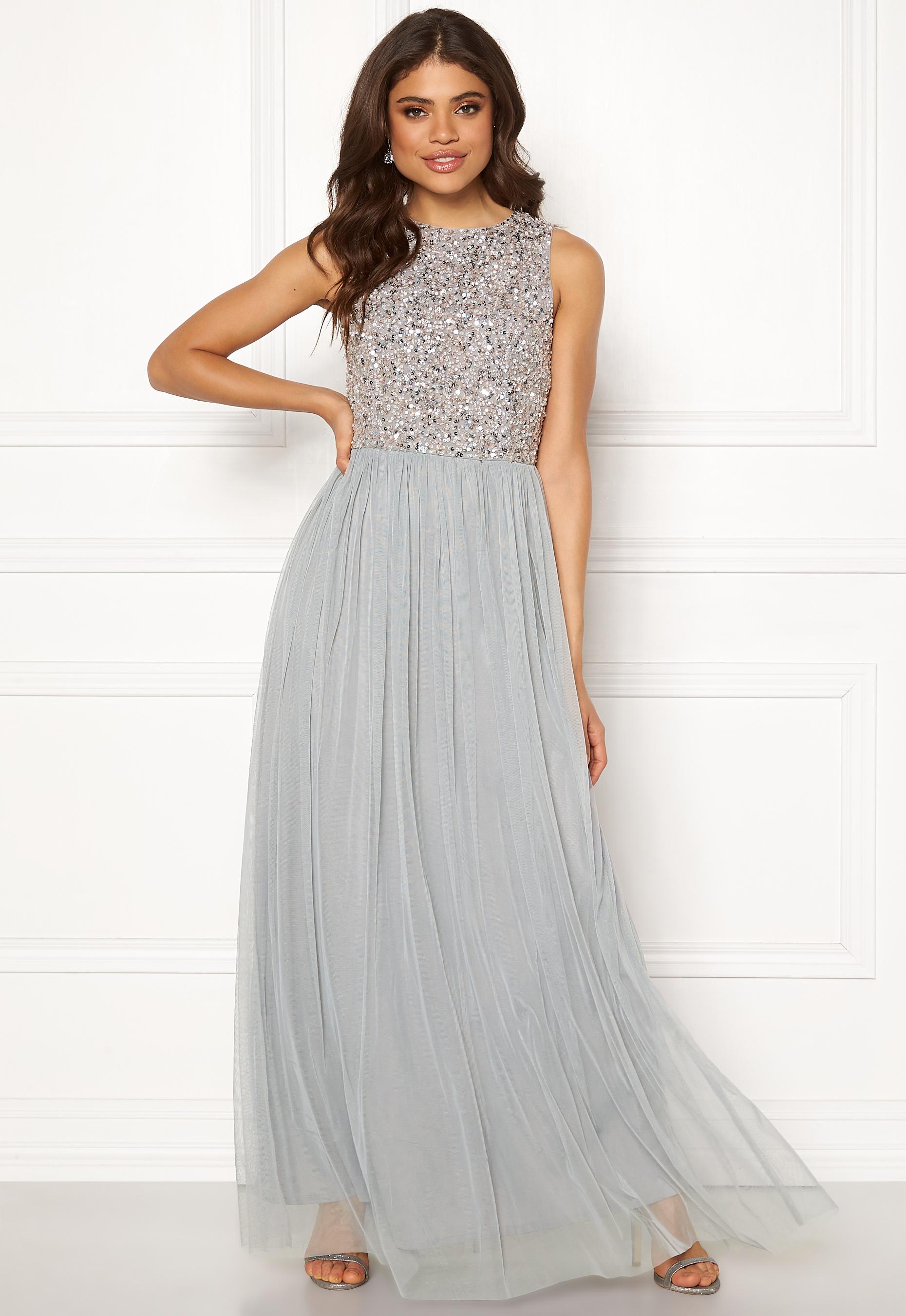 f136160aaad6 AngelEye Sleeveless Bodice Dress Light Grey - Bubbleroom