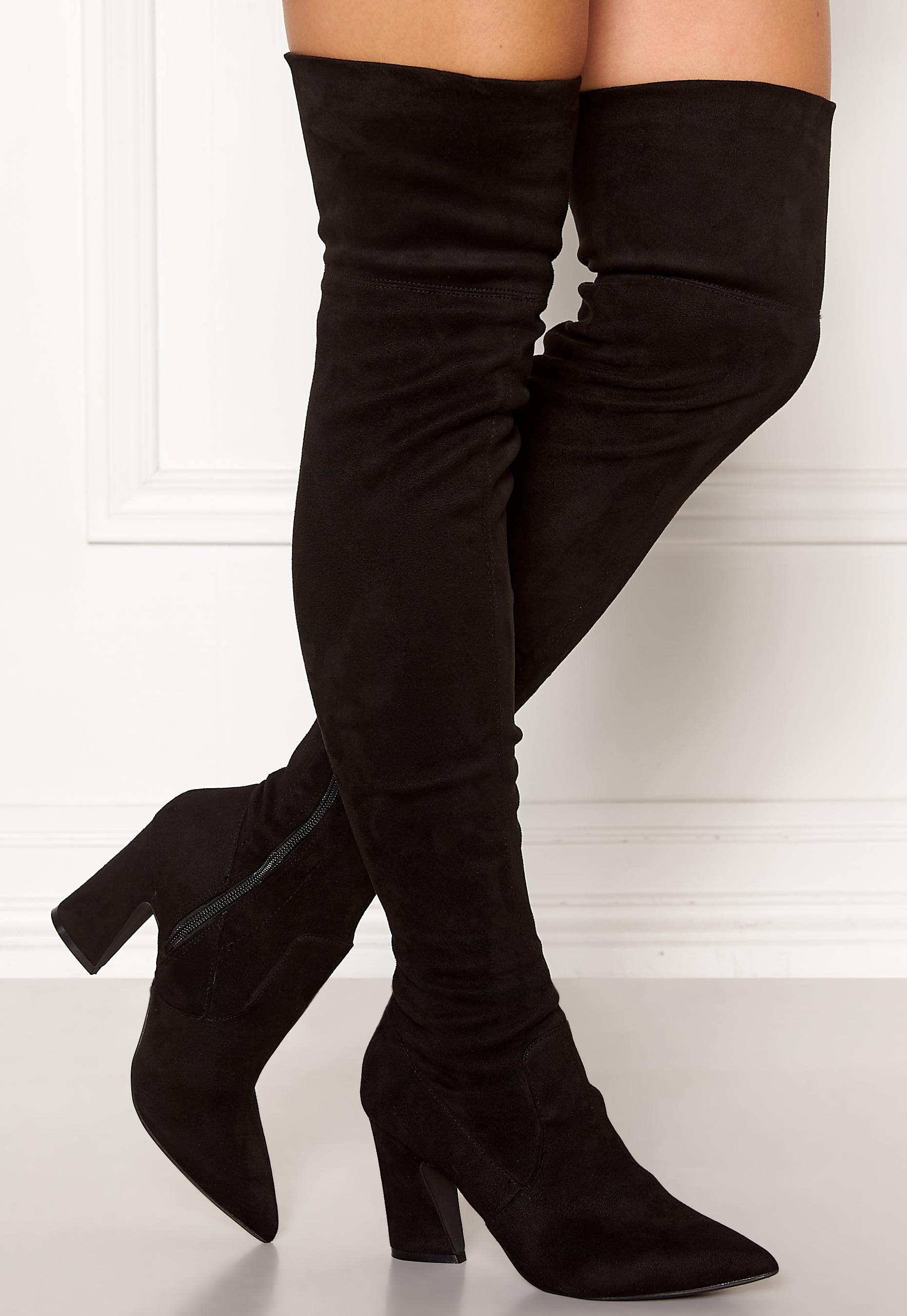 Bianco Carter Overknee Boots Black Bubbleroom