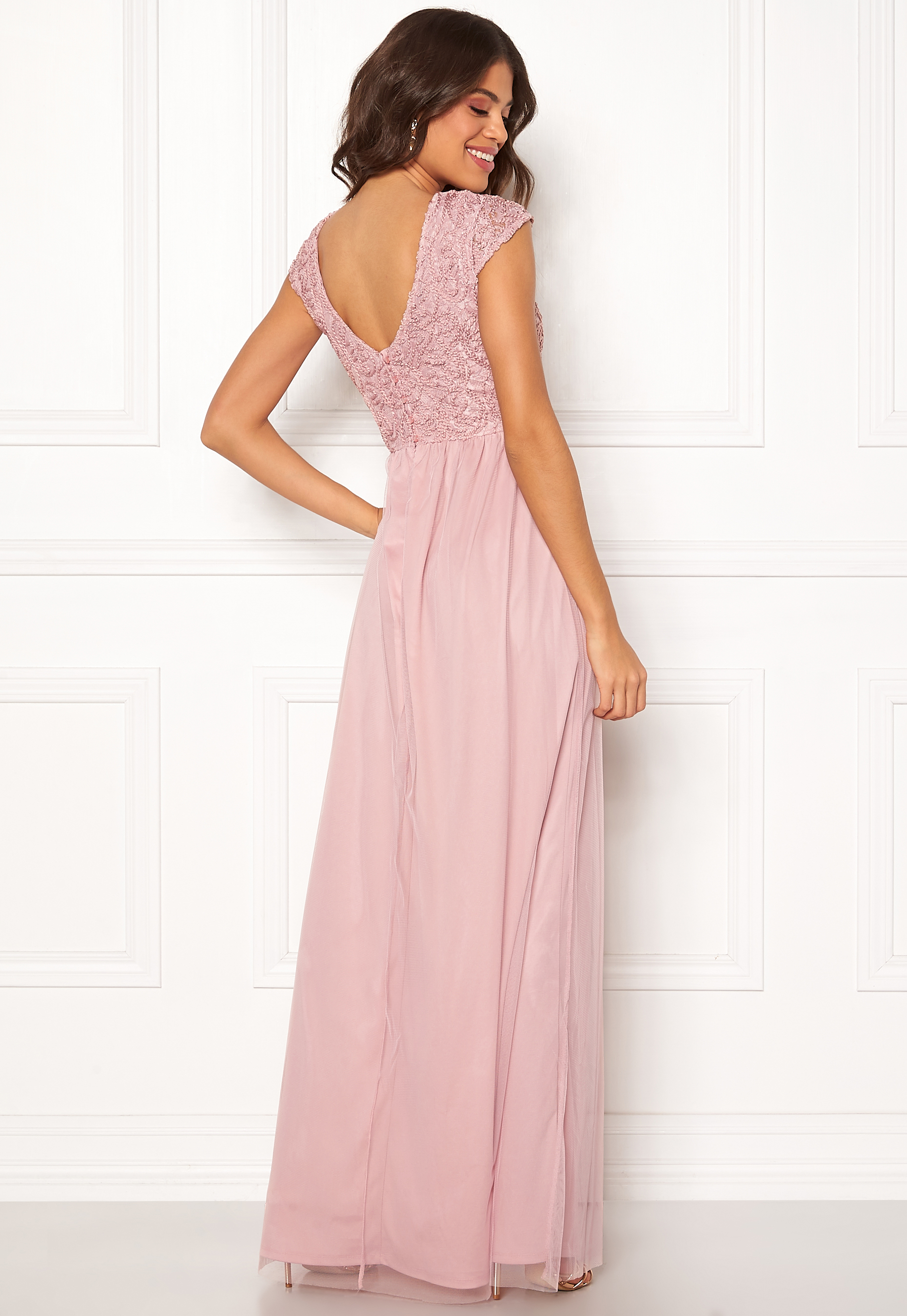 05d57c1e743 BUBBLEROOM Ariella prom dress Dusty pink - Bubbleroom
