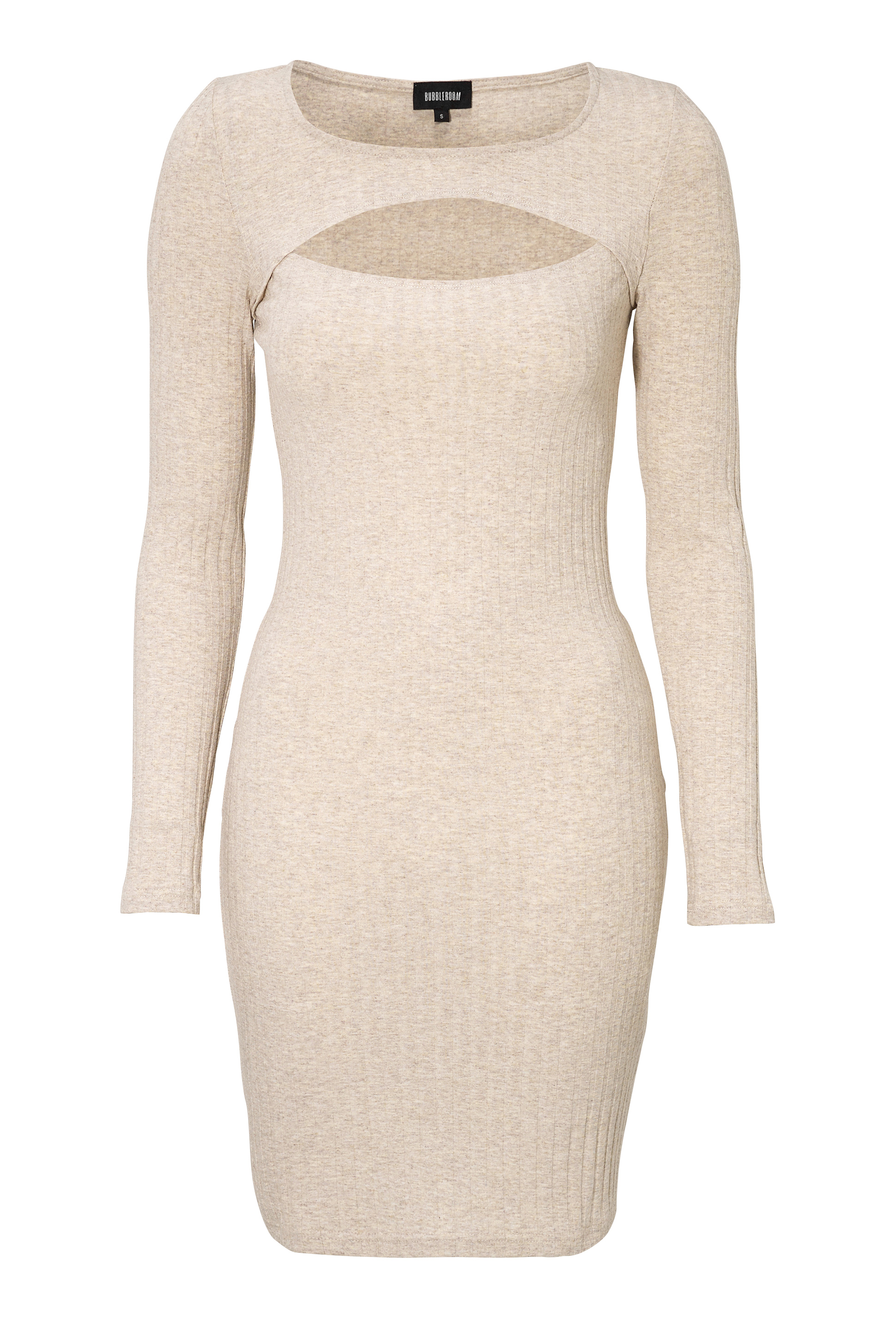 BUBBLEROOM Kampala rib dress Beige melange - Bubbleroom ba8069f514189