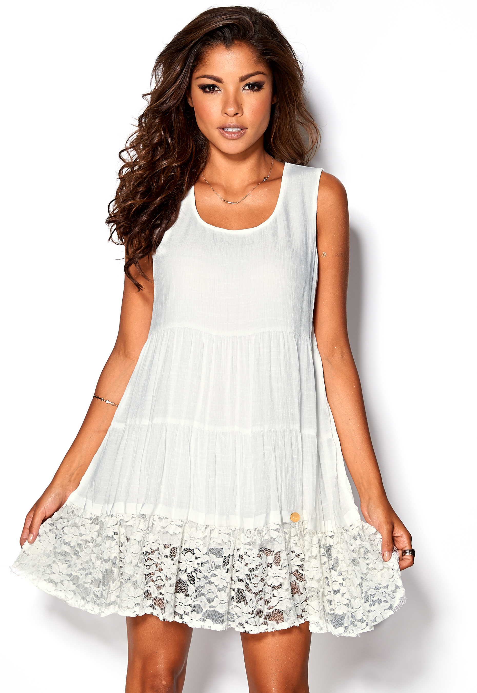grossistförsäljning beställa online bra kvalitet Chiara Forthi Anou Dress Cream - Bubbleroom