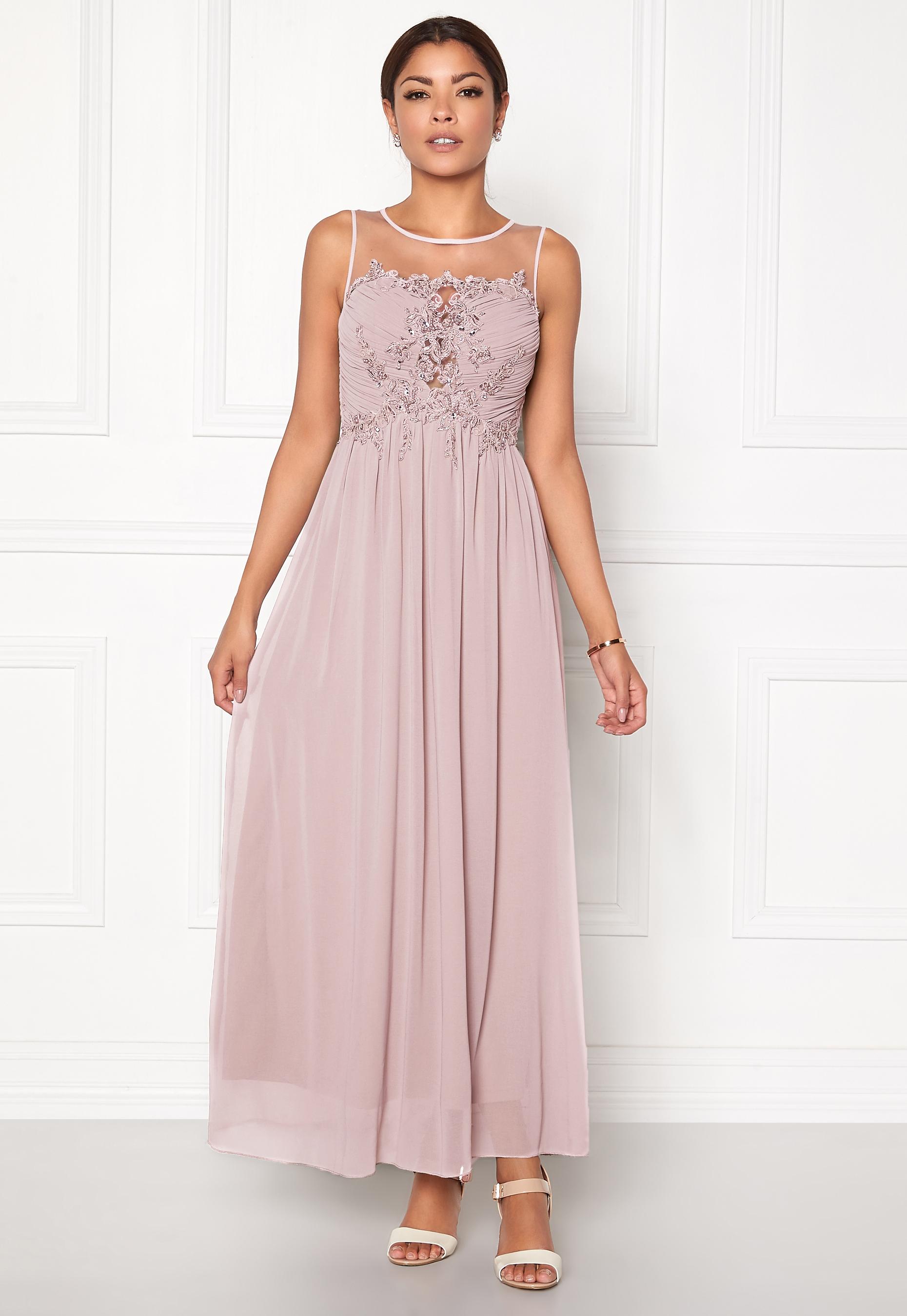 ab9183bfd5f4 Chiara Forthi Ariana Embellished Dress Dusty pink - Bubbleroom