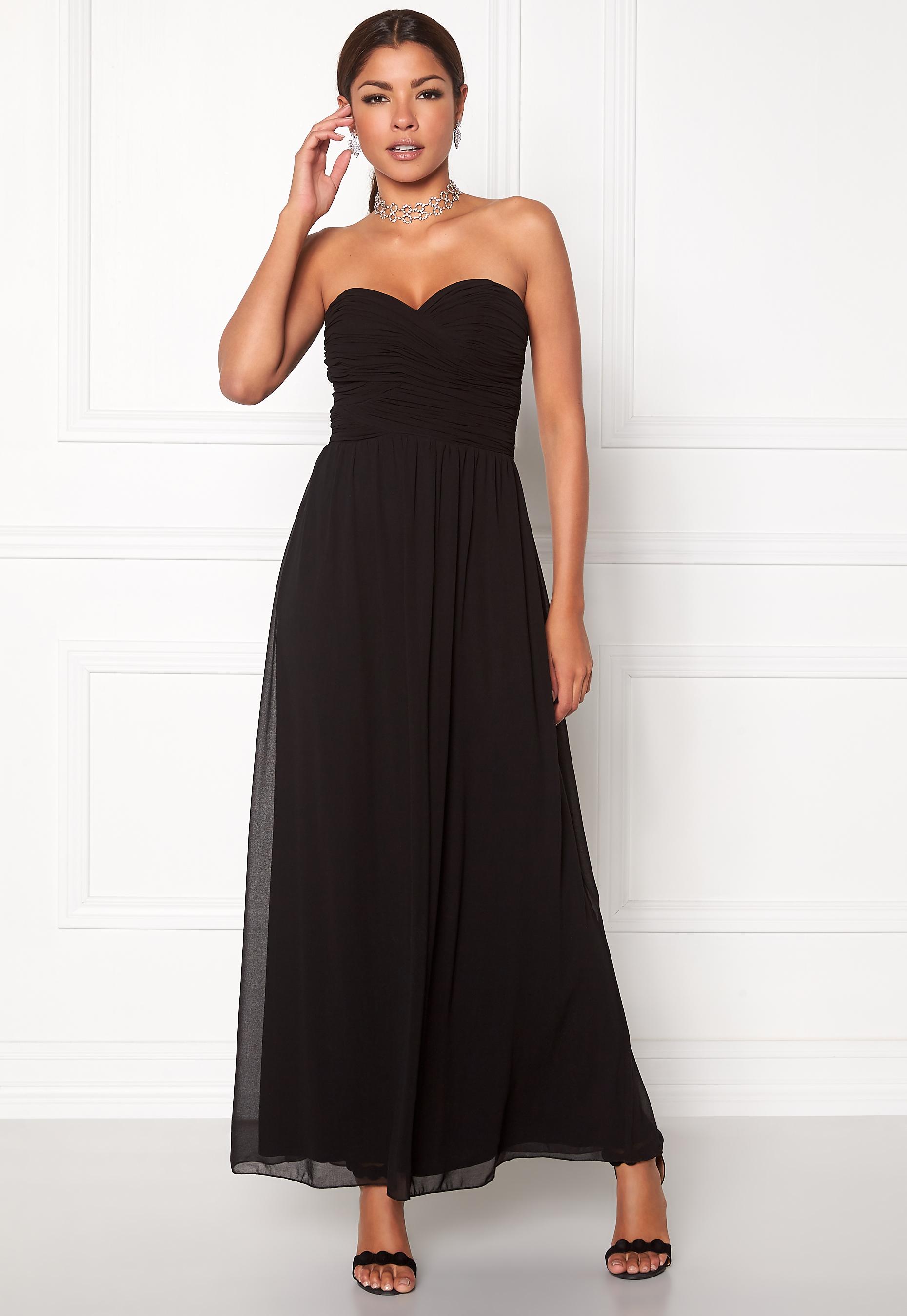 Chiara Forthi Cascade Bandeau Dress Black - Bubbleroom 13a5c6998f045