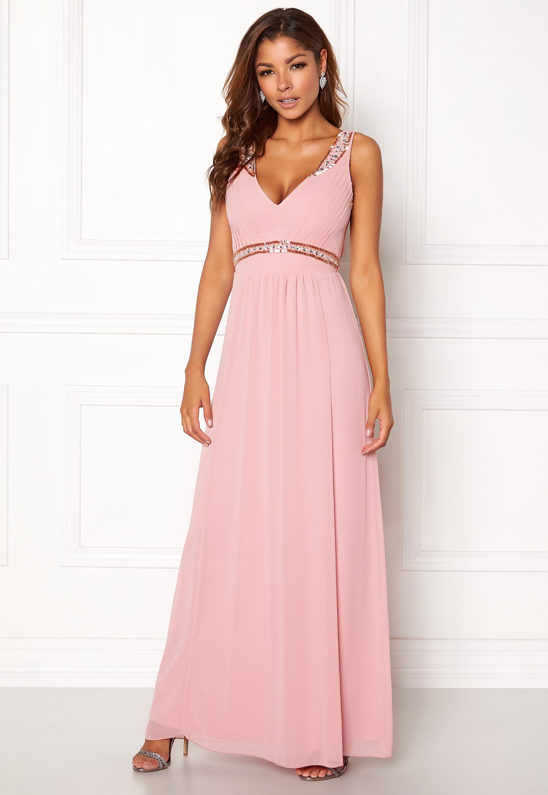 5978c46cef11 Chiara Forthi Tilia Embellished Dress Powder pink - Bubbleroom