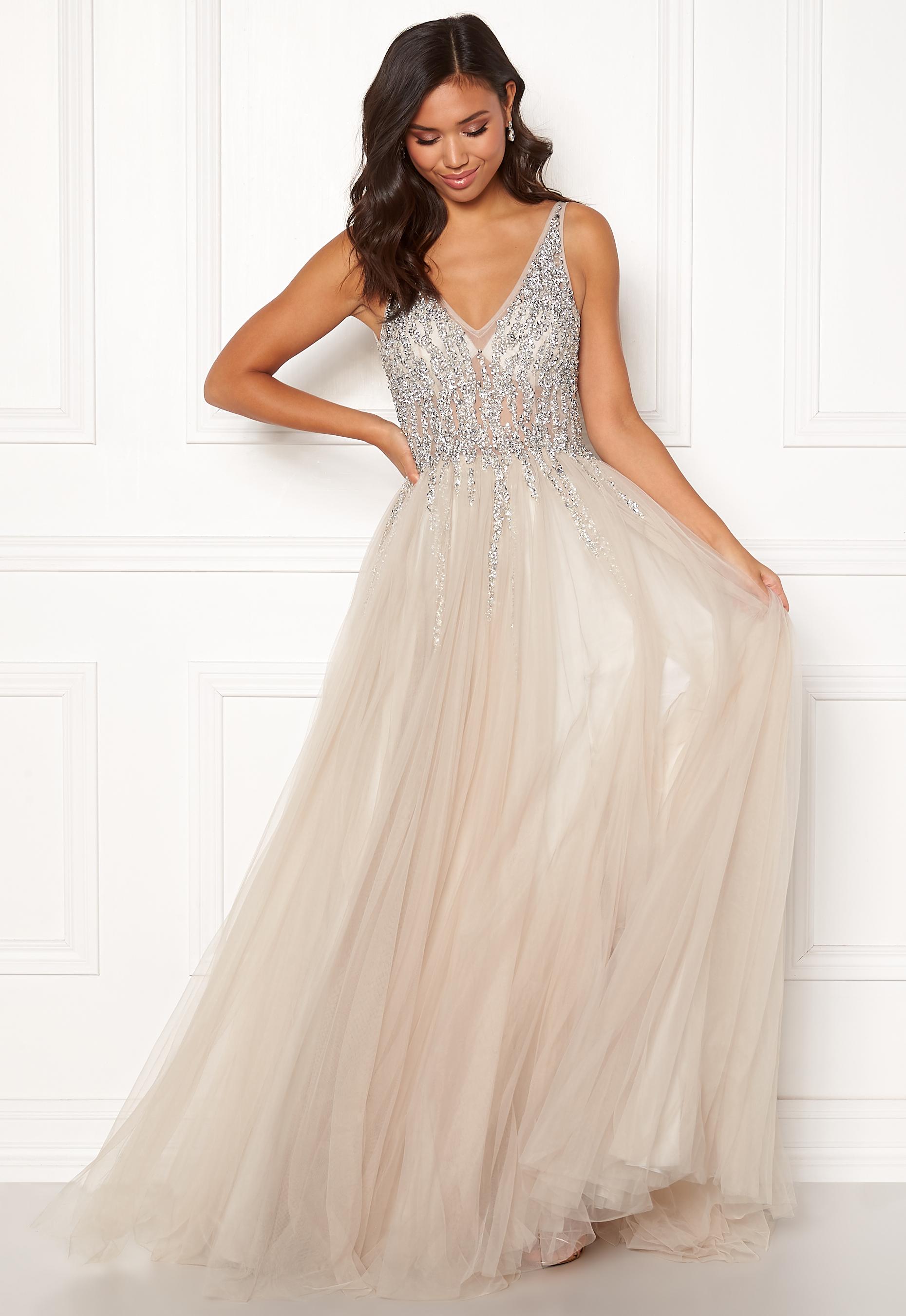 88b4909c7516 Christian Koehlert Sparkling Tulle Dream Dress Ghost Gray - Bubbleroom