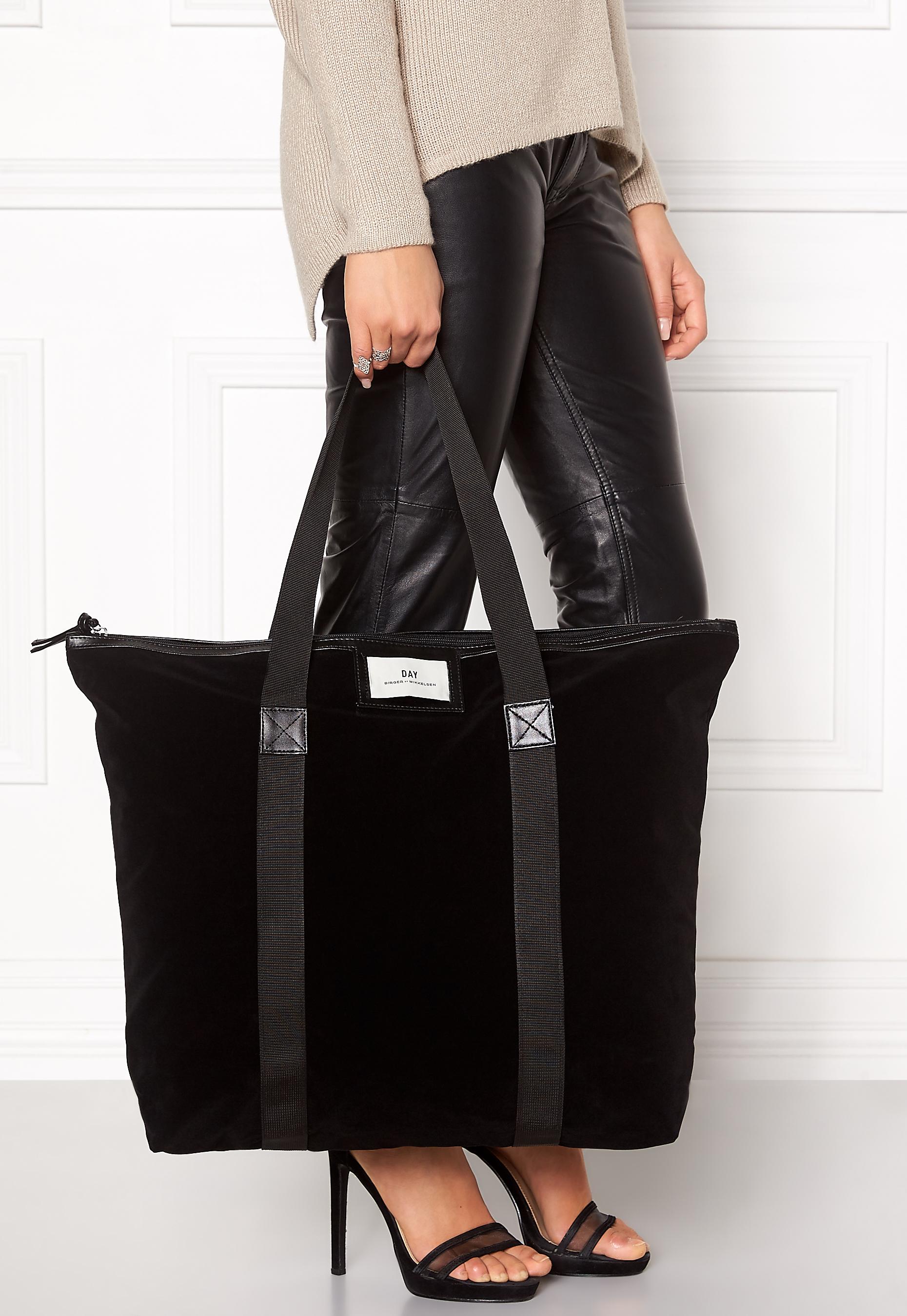 day birger et mikkelsen day gweneth velvet bag black bubbleroom. Black Bedroom Furniture Sets. Home Design Ideas