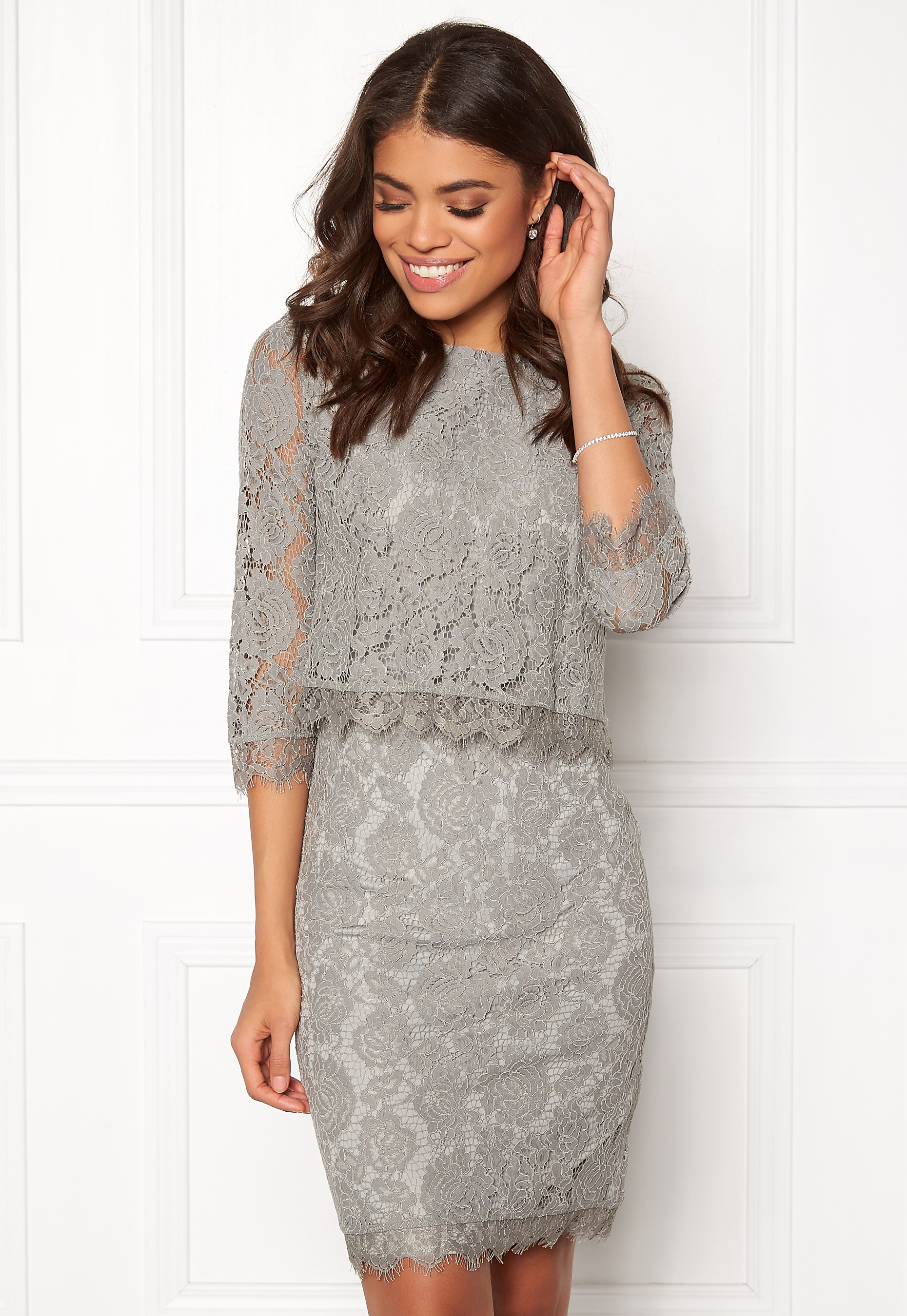 a37e0f563c52 DRY LAKE Malou Dress Light Grey - Bubbleroom
