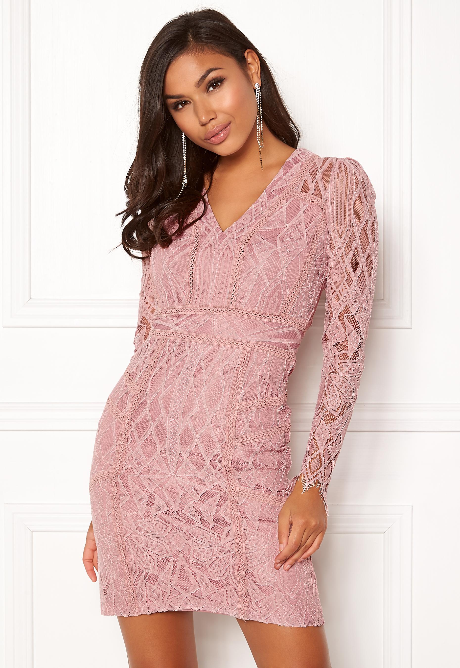 DRY LAKE Miranda Dress Misty Rose - Bubbleroom 7c5b6ab3c462f