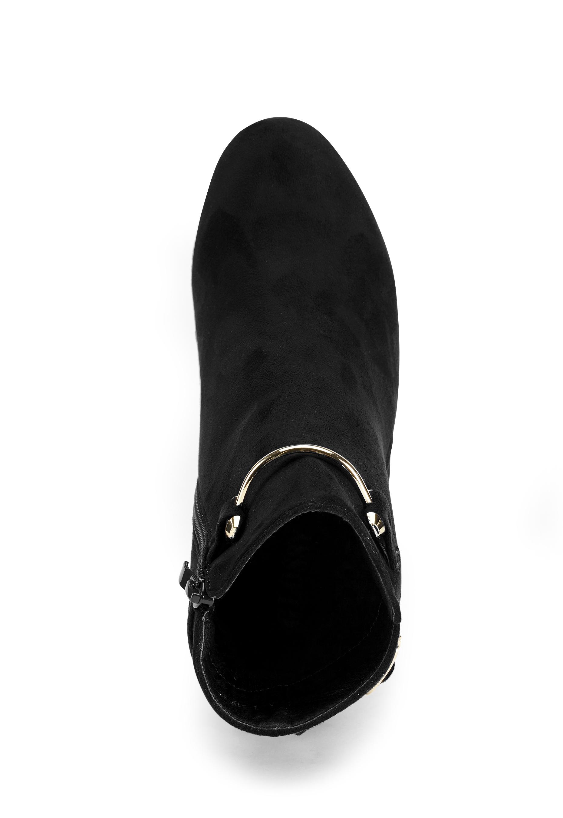 Glossy Halle Boots Black Bubbleroom