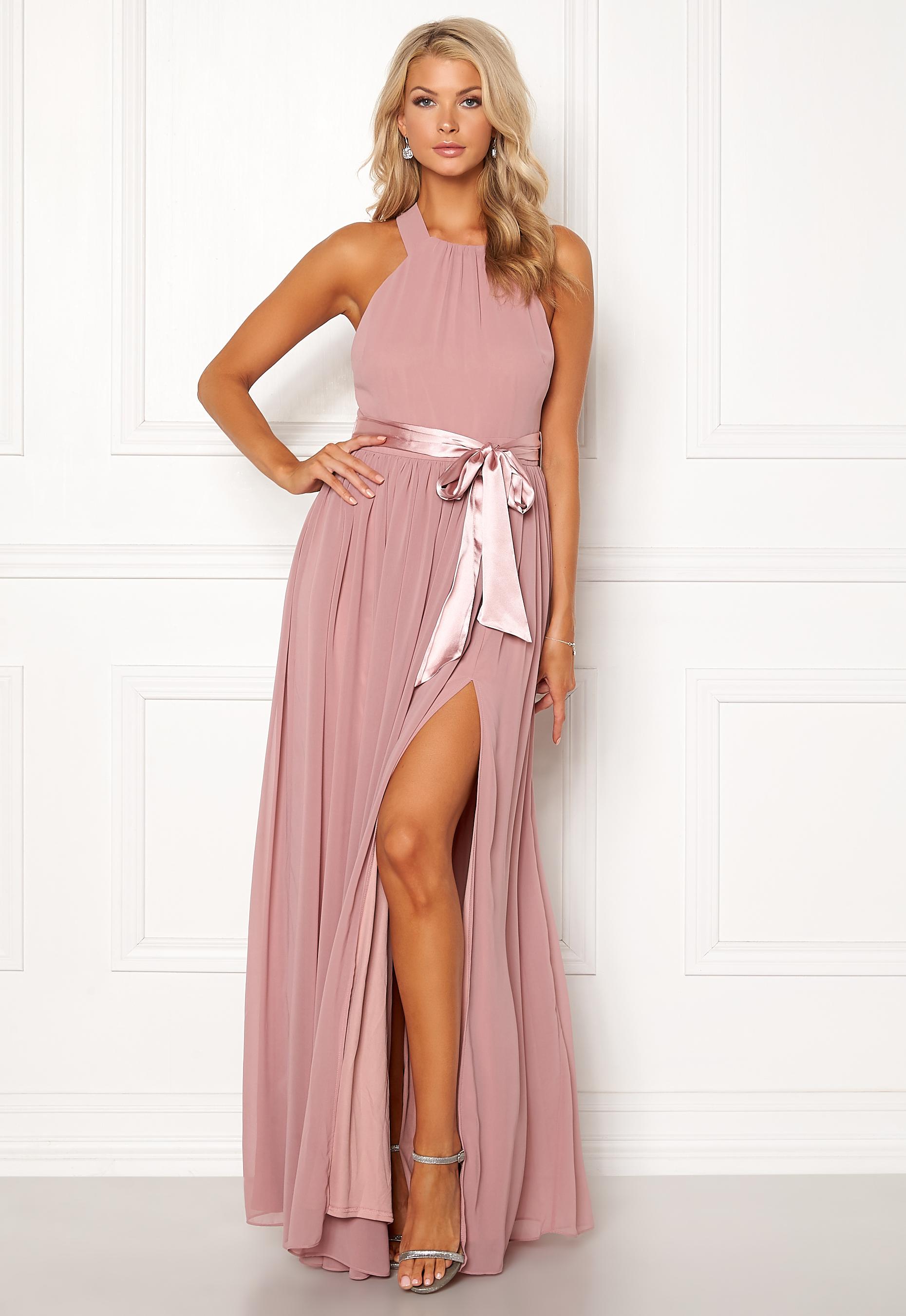 e92227ce775a Goddiva Cross Back Chiffon Dress Lavender - Bubbleroom