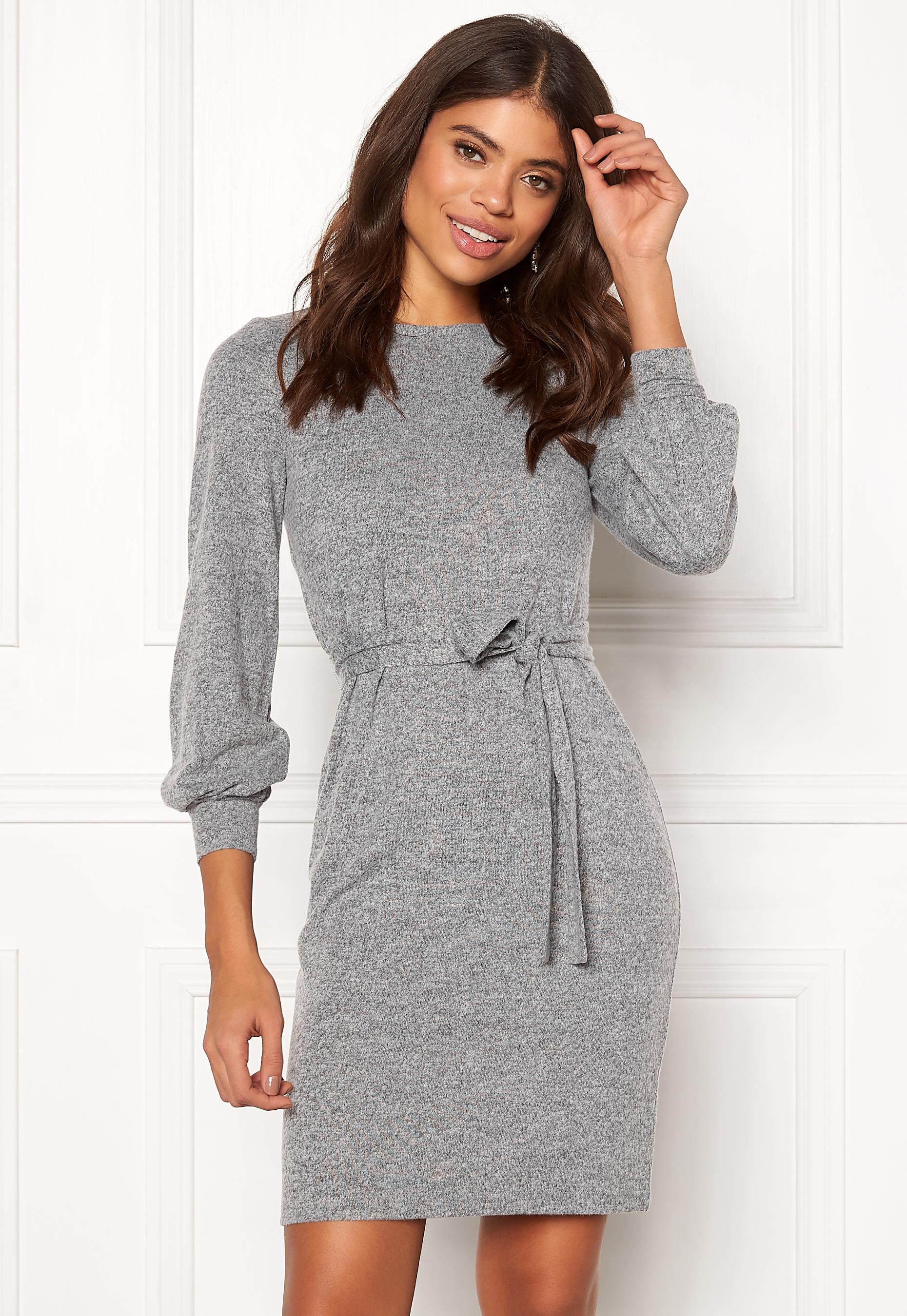 Happy Holly Liz dress Grey melange - Bubbleroom ef93af2e7ce66