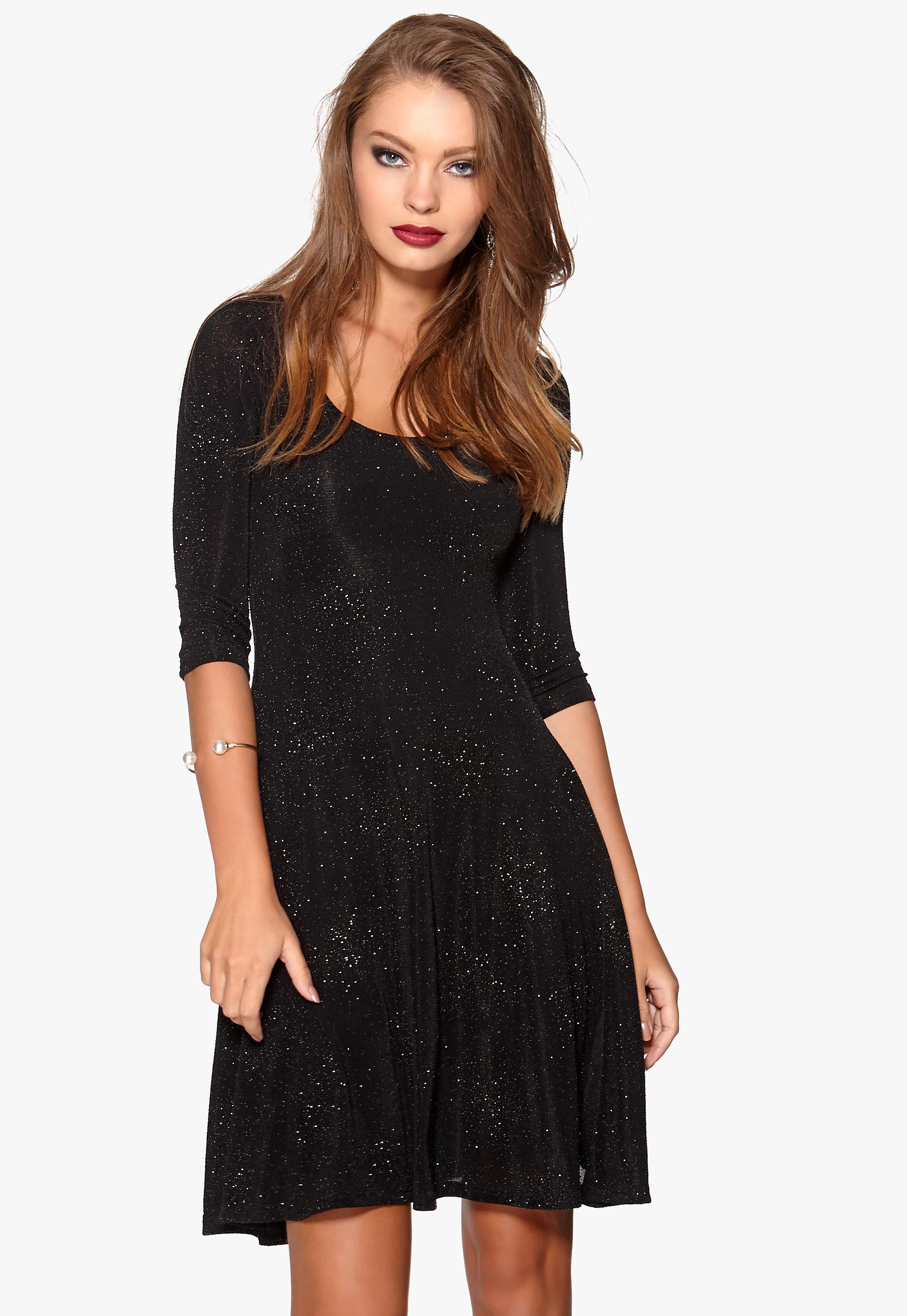 svart glittrig klänning