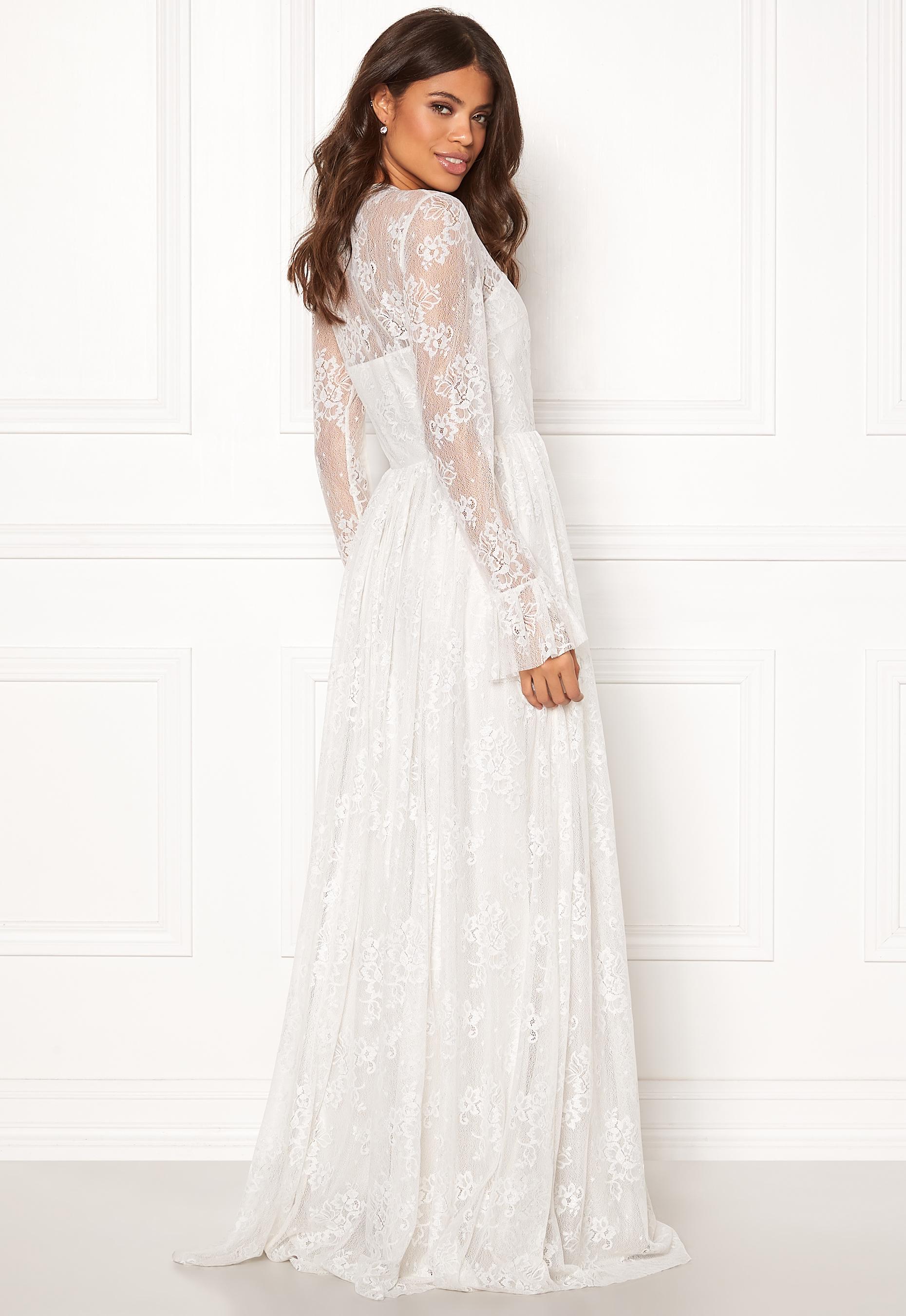 99d0e9a6c232 Ida Sjöstedt Statue Dress Soft Lace White - Bubbleroom