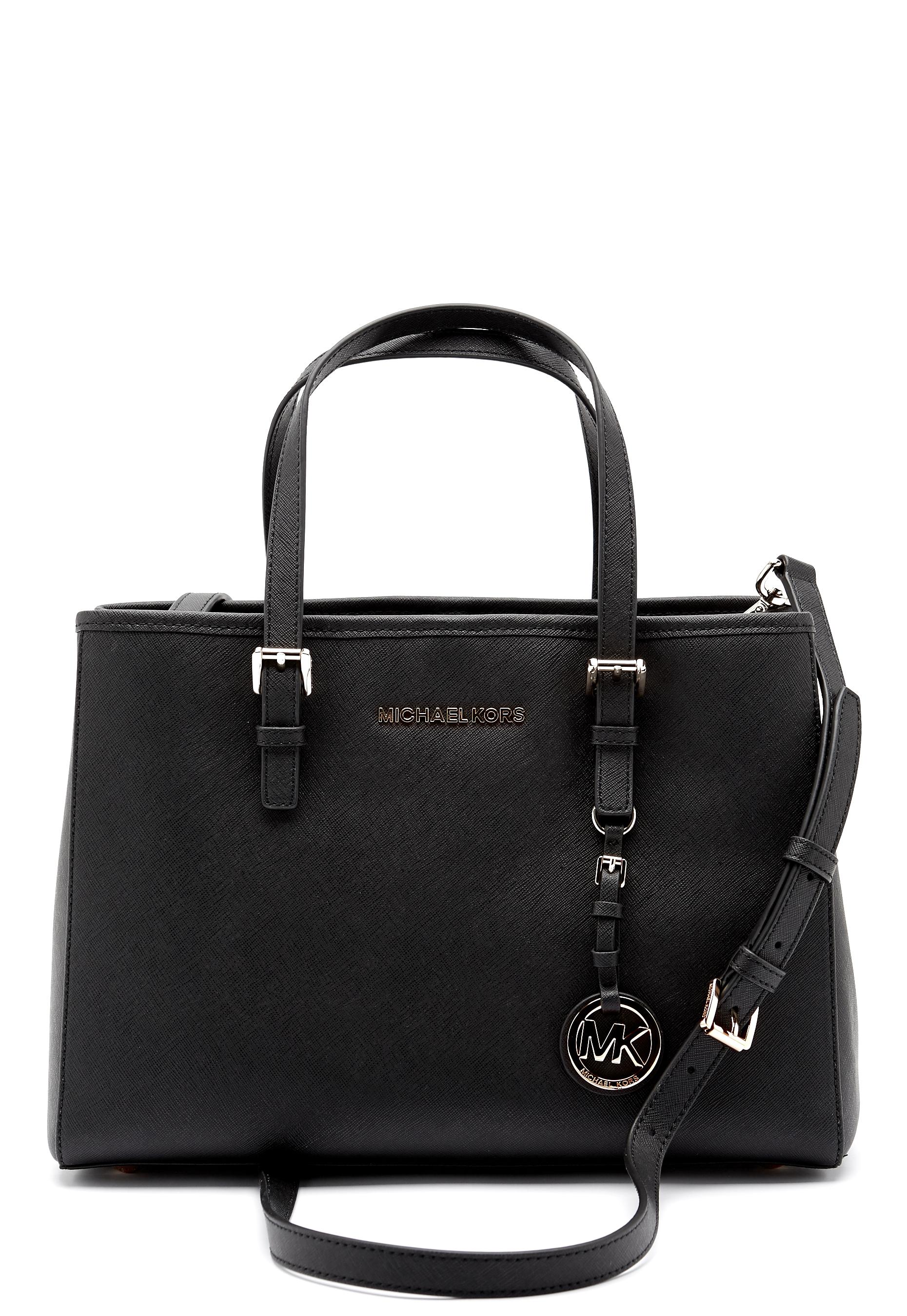Michael Michael Kors Jet Set Leather Bag Black Bubbleroom