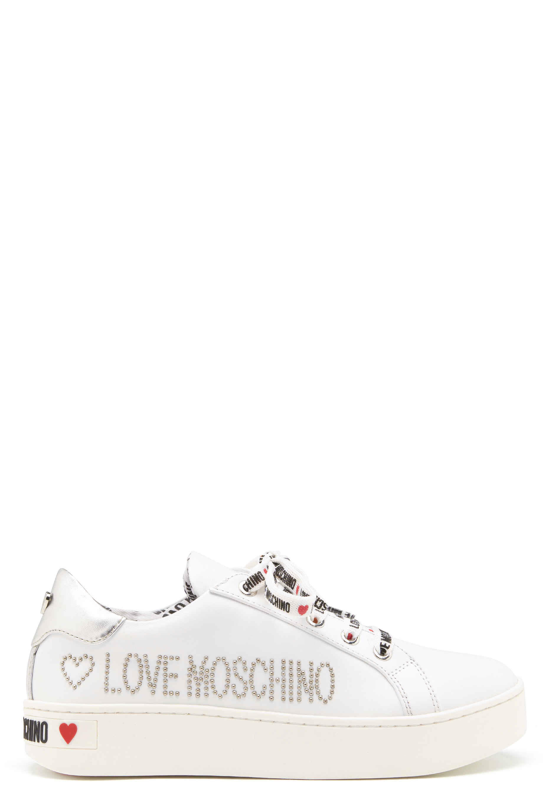Love Moschino Moschino Leather Sneakers White Bubbleroom