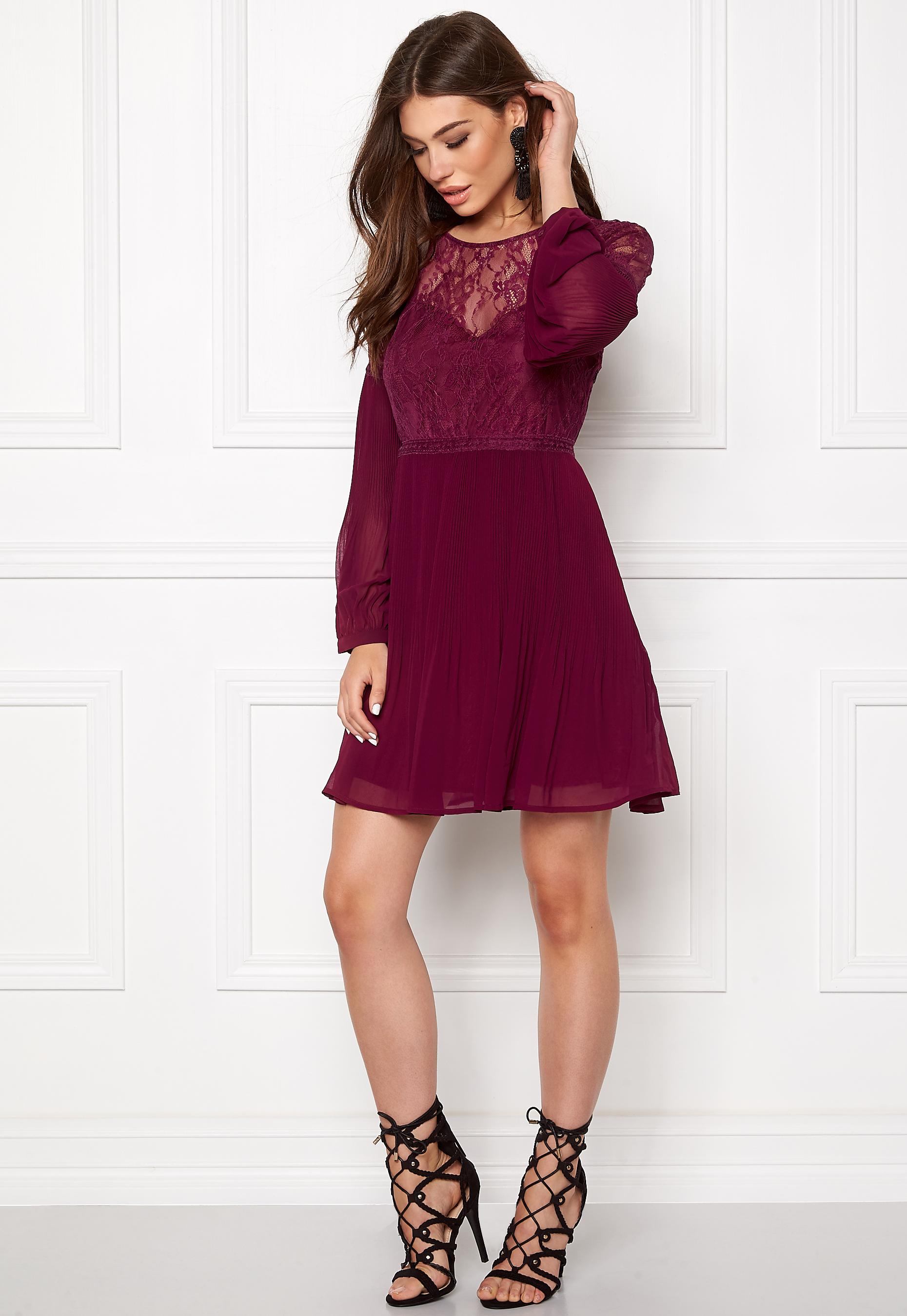 a2df1176a46b Make Way Admira Dress Purple / Red - Bubbleroom