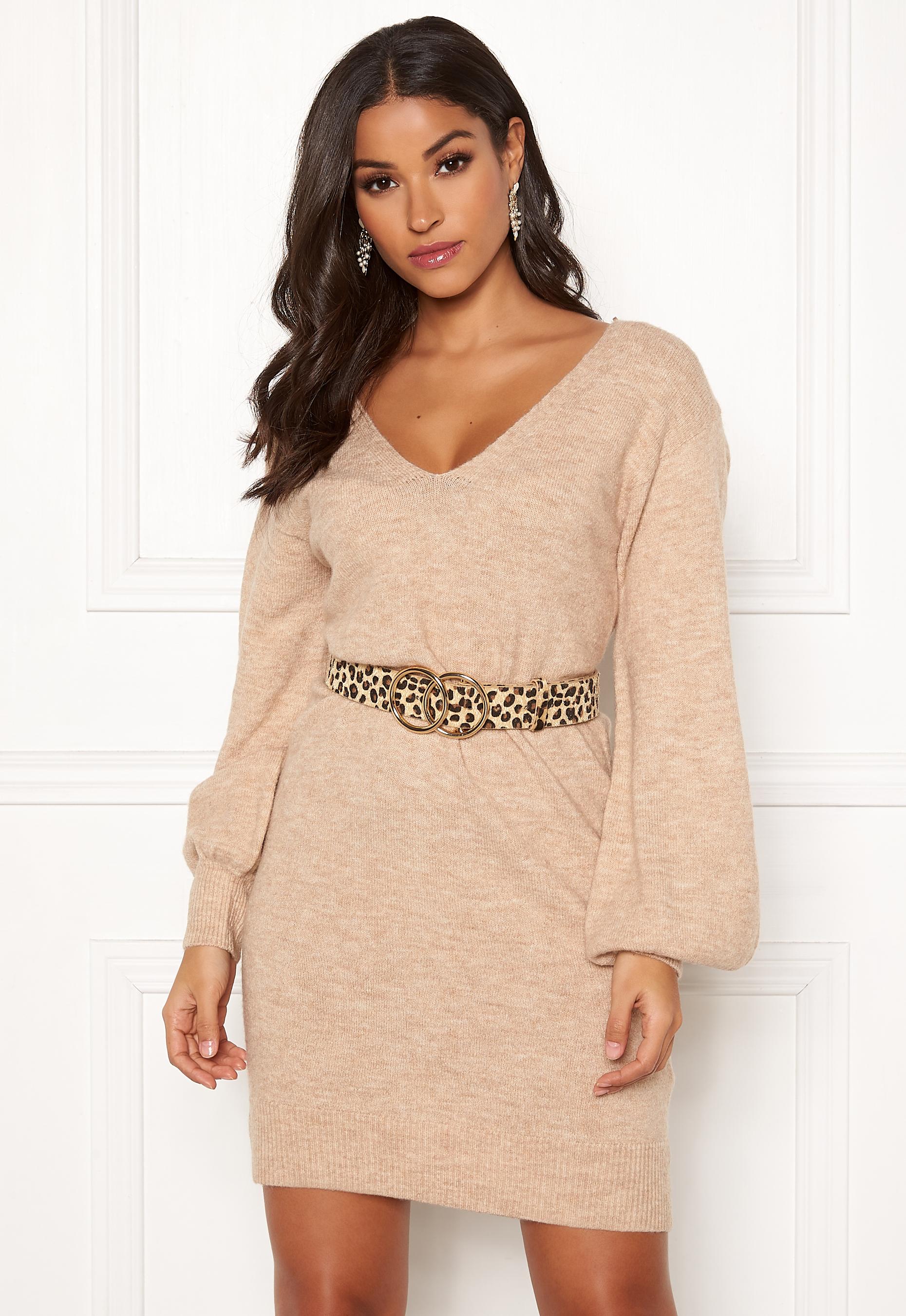Make Way Alma knitted dress Beige Bubbleroom