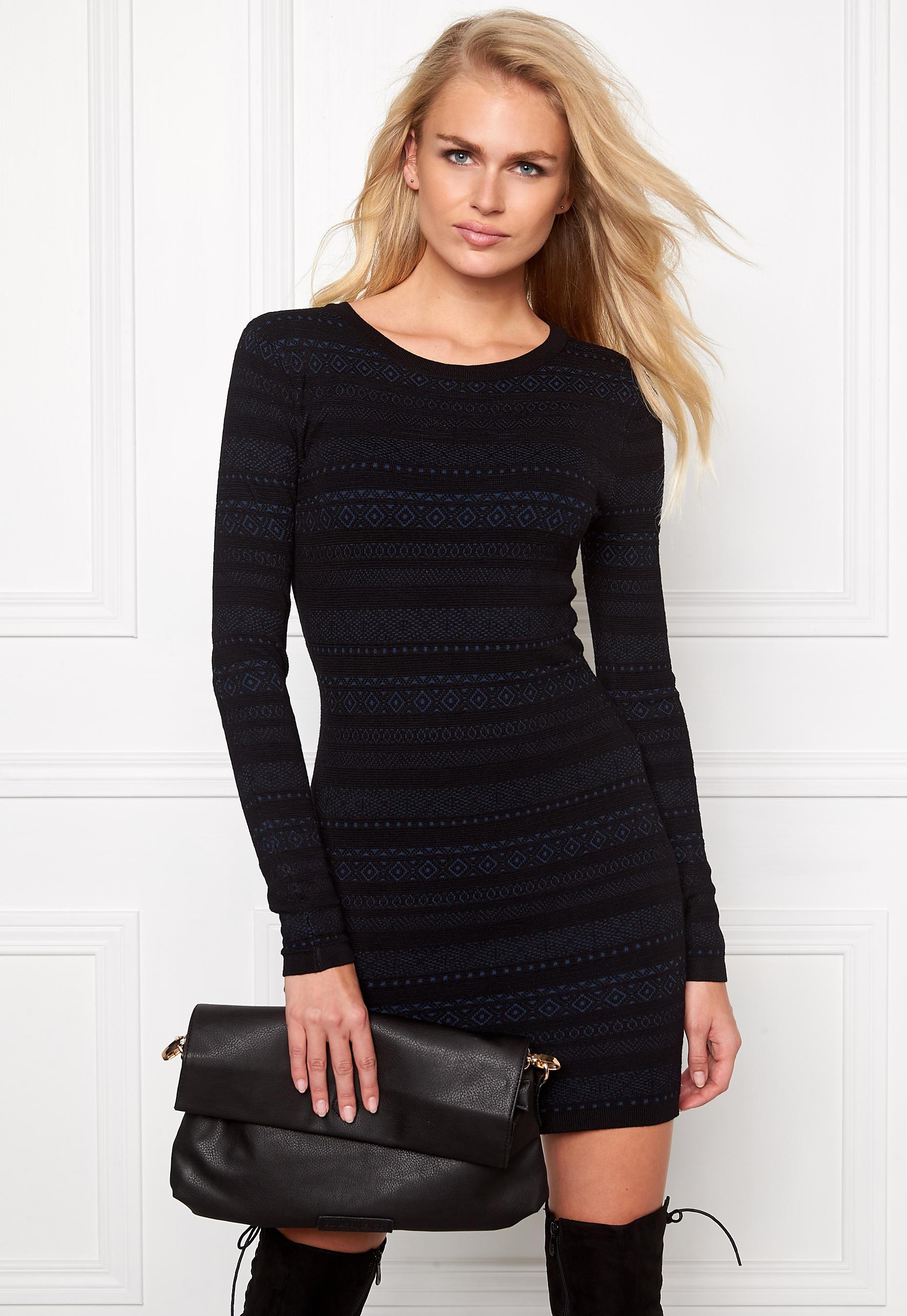 Make Way Ella Dress Black Blue Bubbleroom