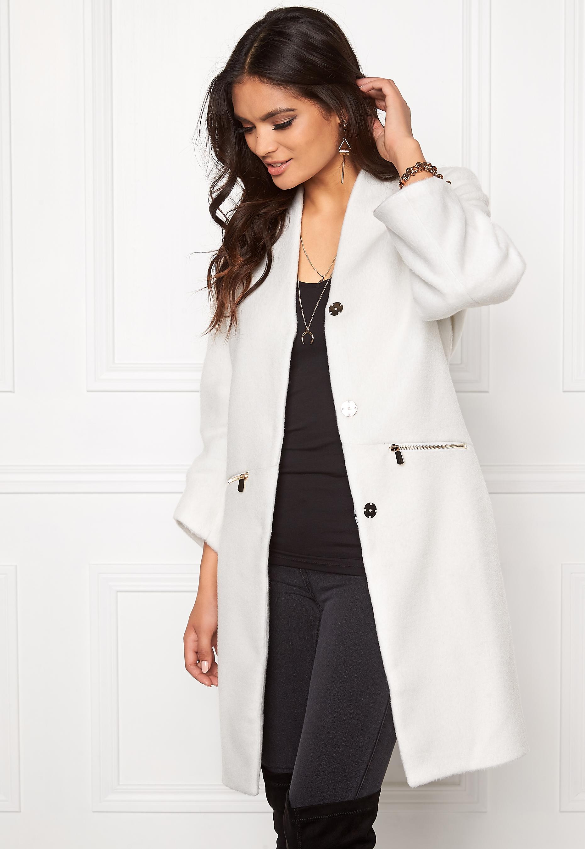Make Way Giovanna Coat (Ladies) White - Bubbleroom