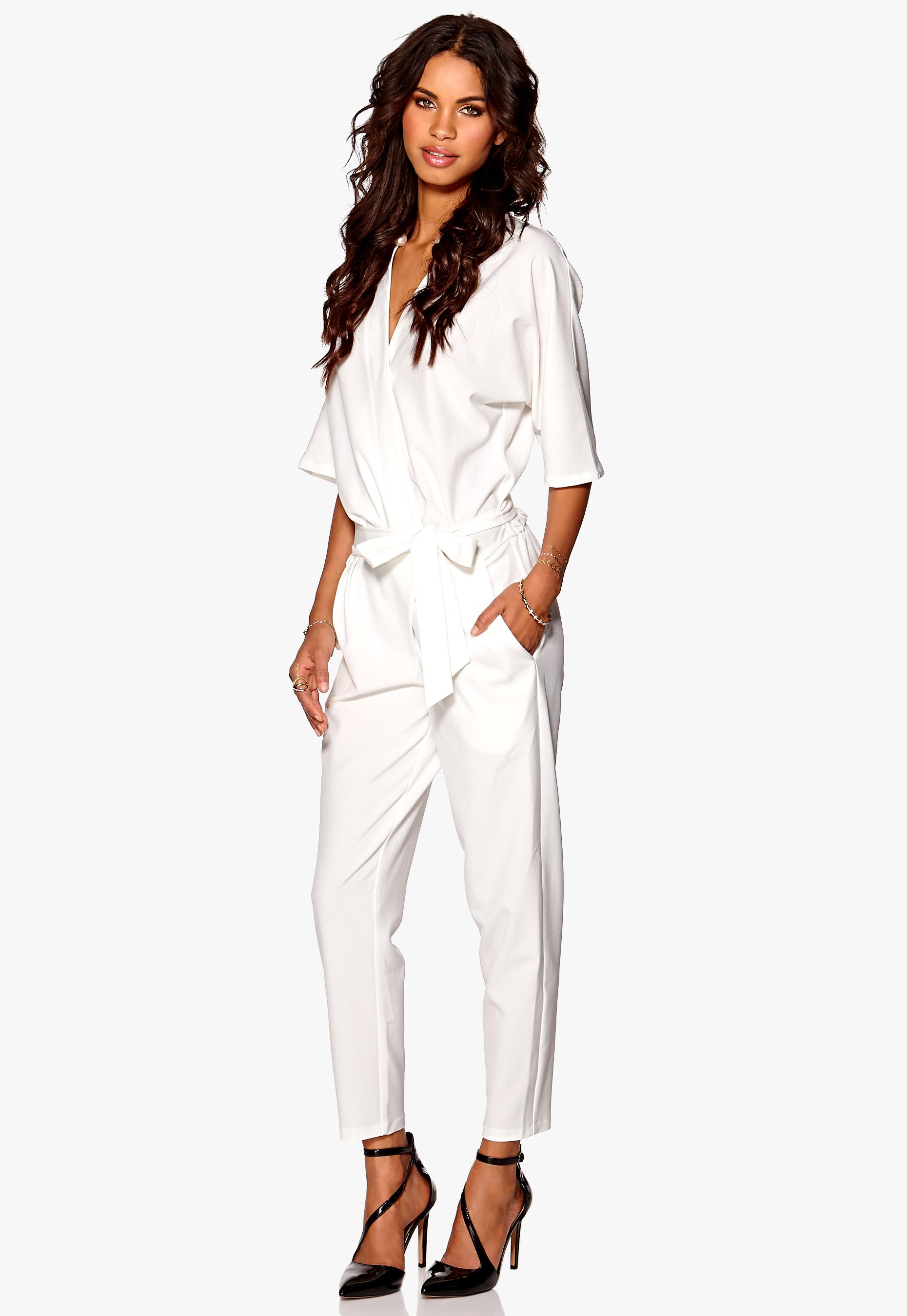 110cc3d7 Make Way Valerie Kimono Jumpsuit White - Bubbleroom