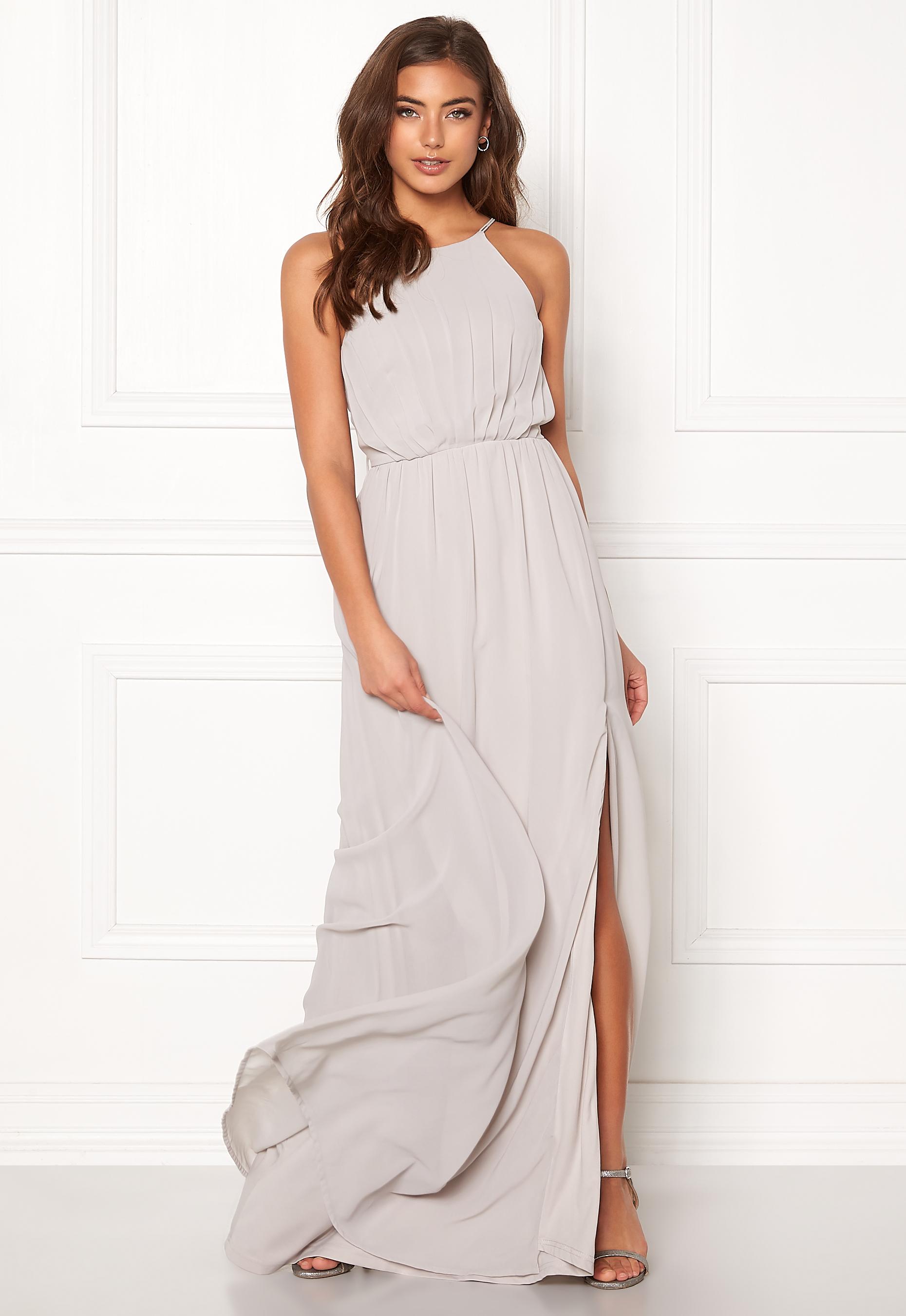ecbe839291b5 Make Way Vania maxi dress Light grey - Bubbleroom