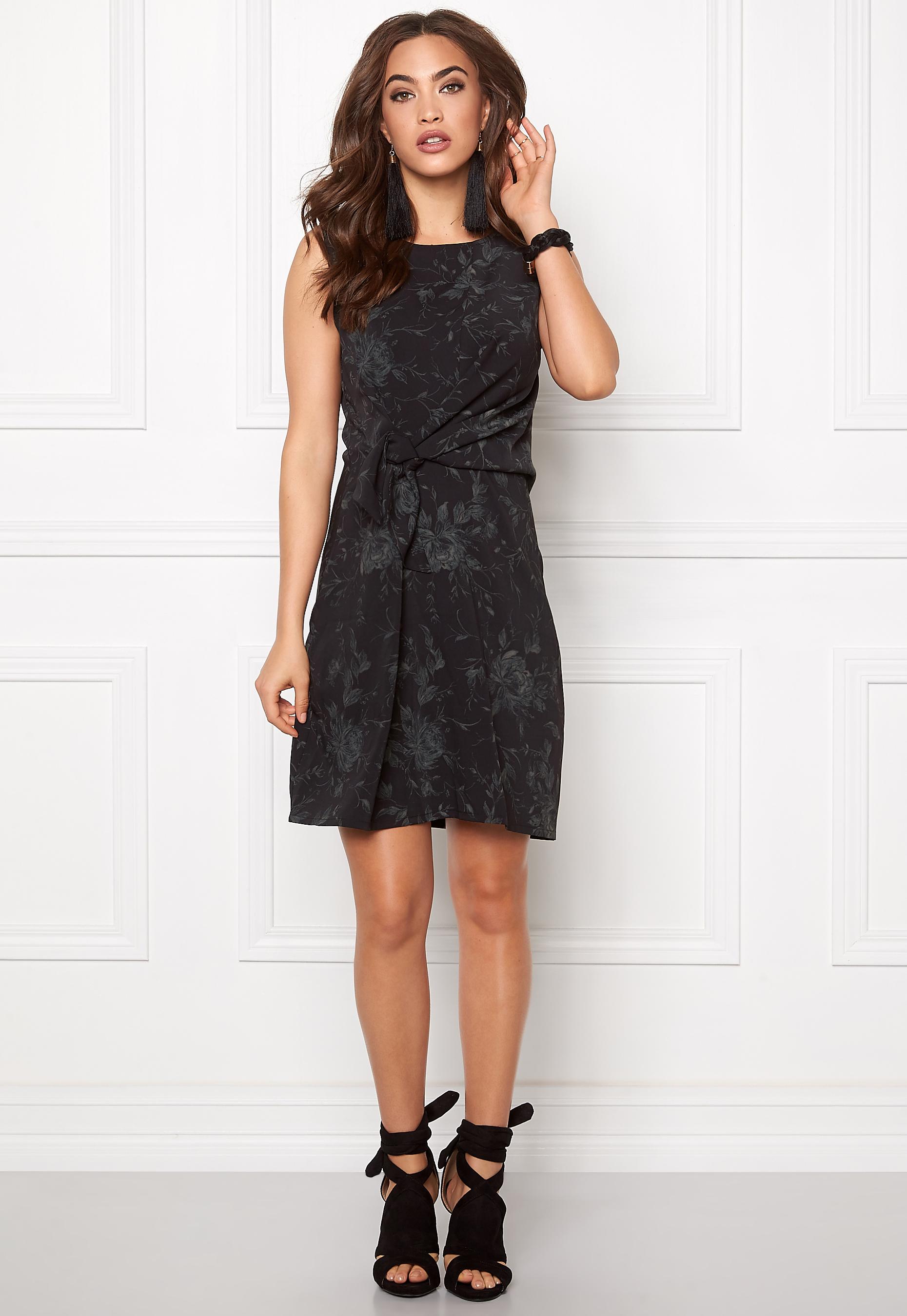 11a43a3b402c Make Way Willow Dress Black / Green / Patterned - Bubbleroom