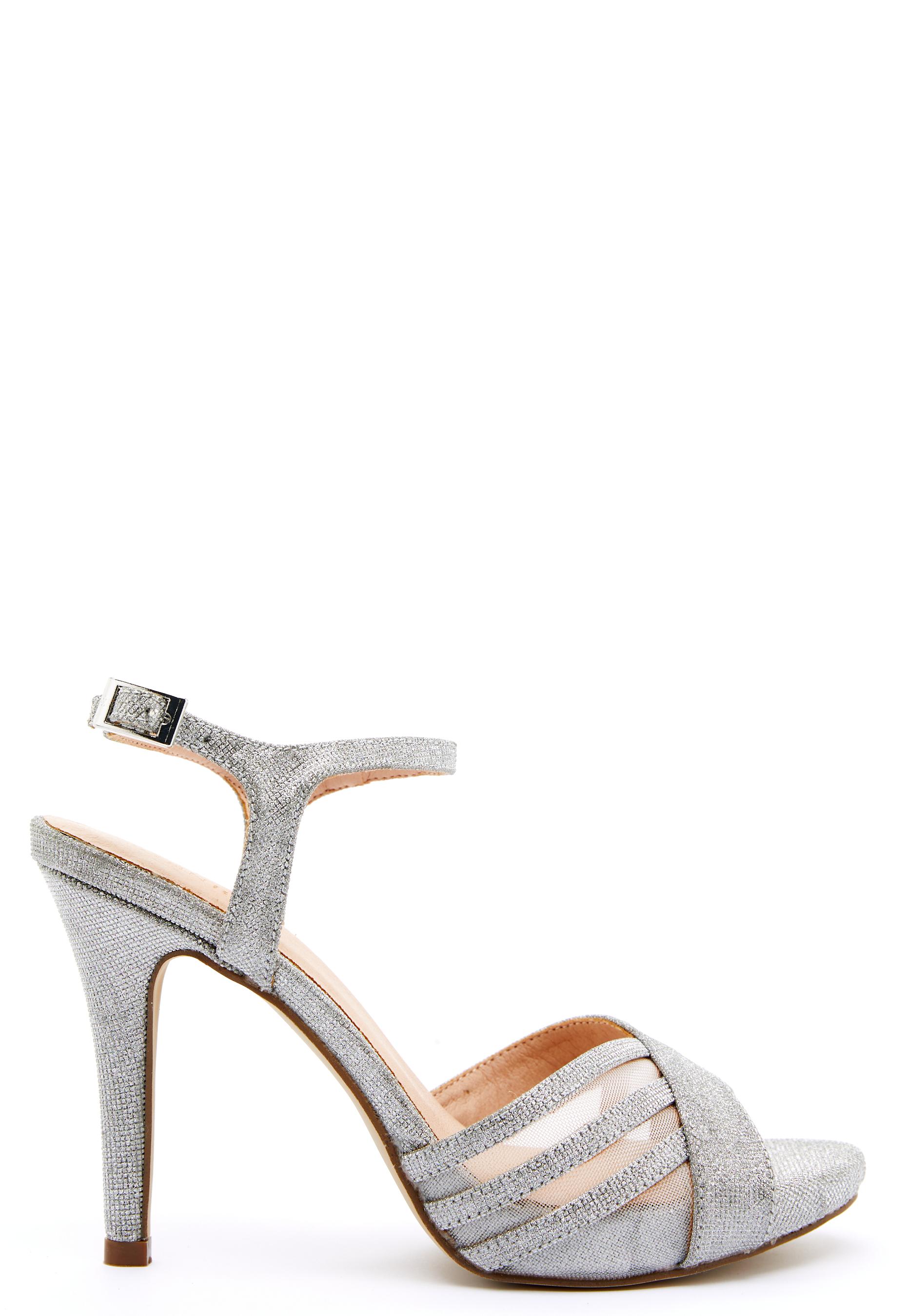 menbur glitter sandals silver 1
