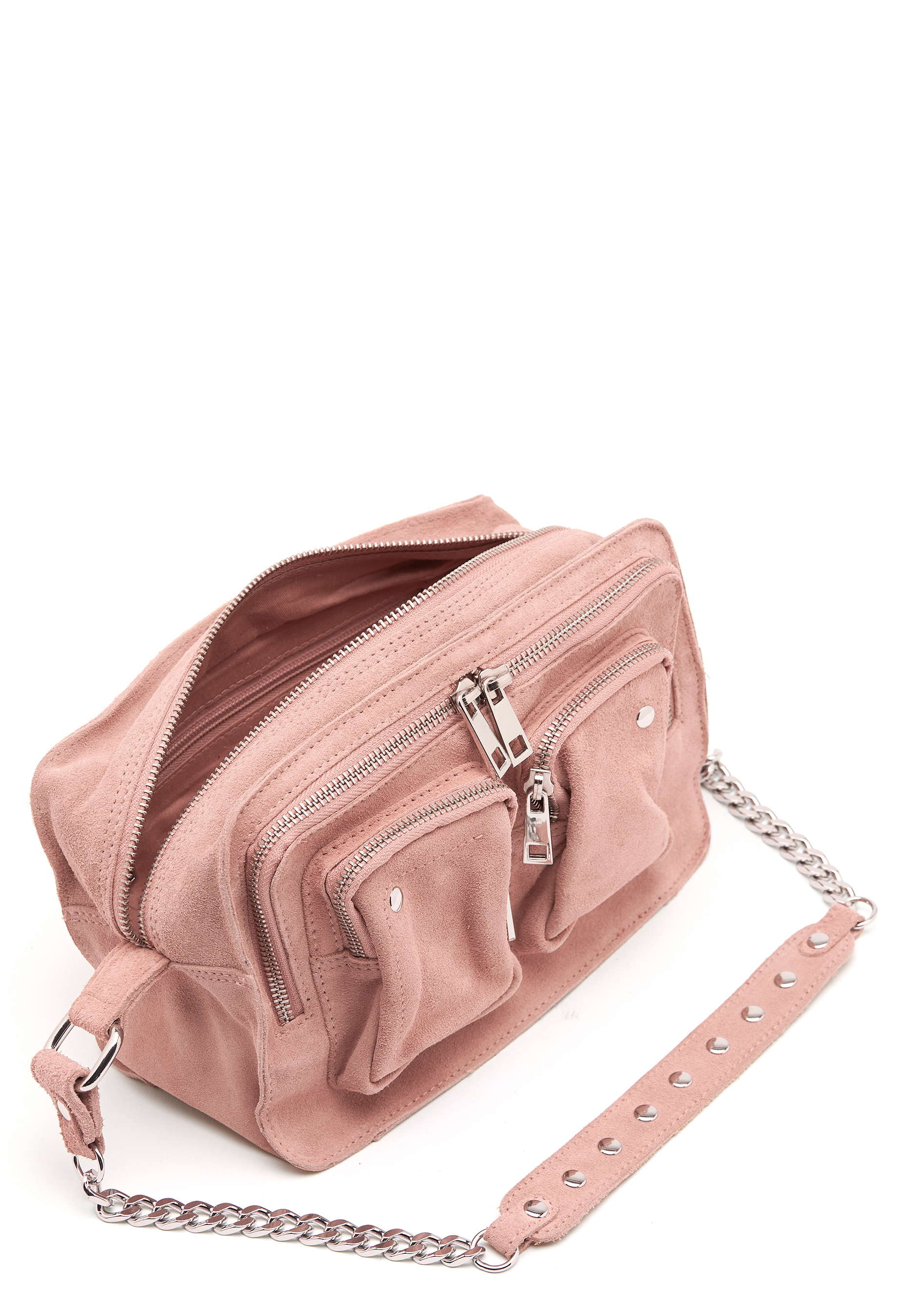 Nunoo Ellie Chain Suede Bag Rose Bubbleroom