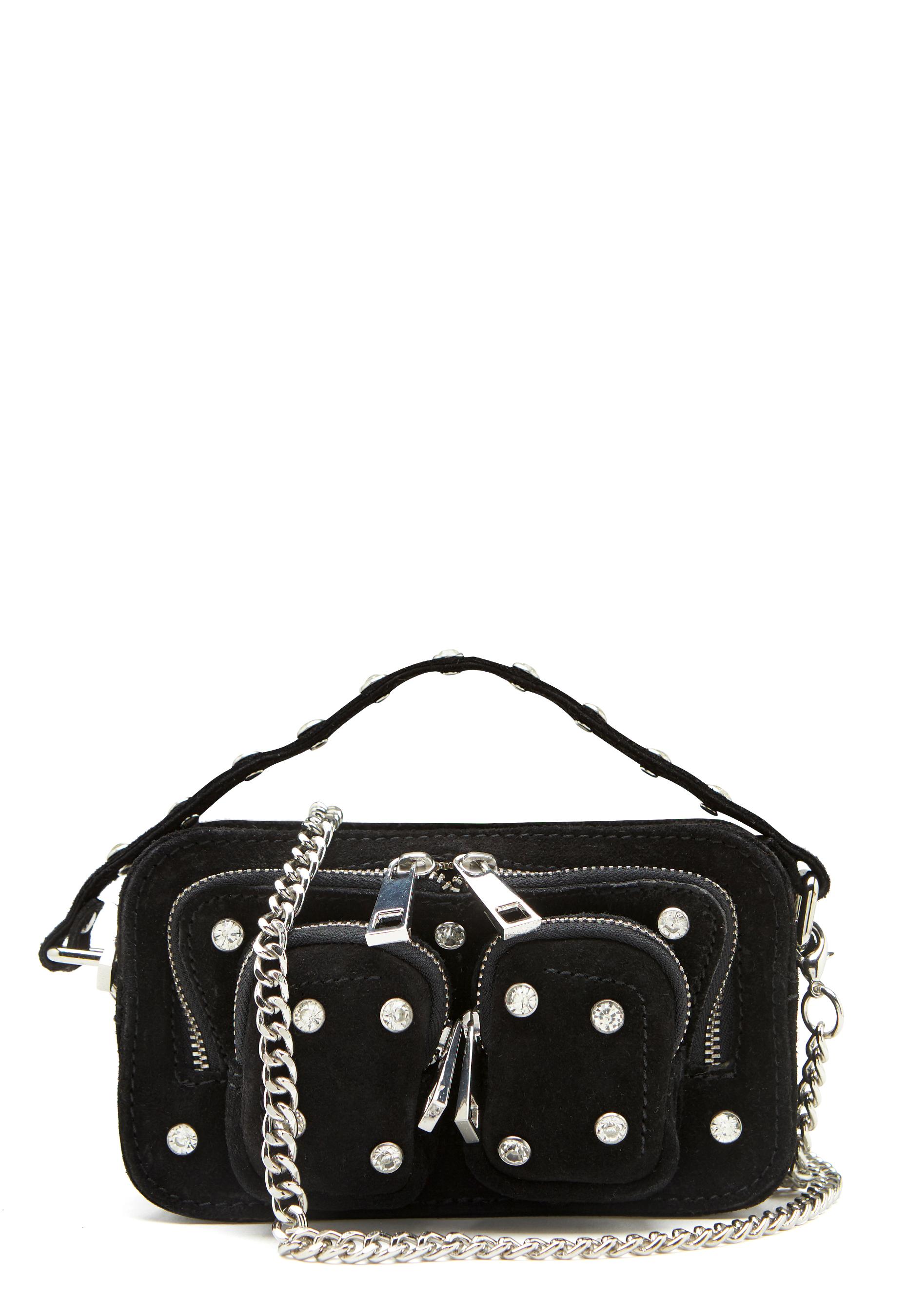 nunoo helena flash leather bag black wdiamonds 1