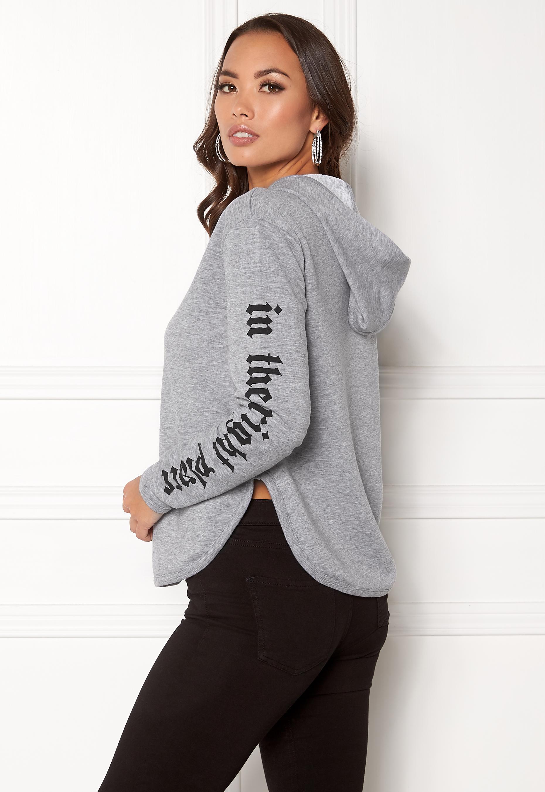 object acacia hoodie pullover light grey melange bubbleroom. Black Bedroom Furniture Sets. Home Design Ideas