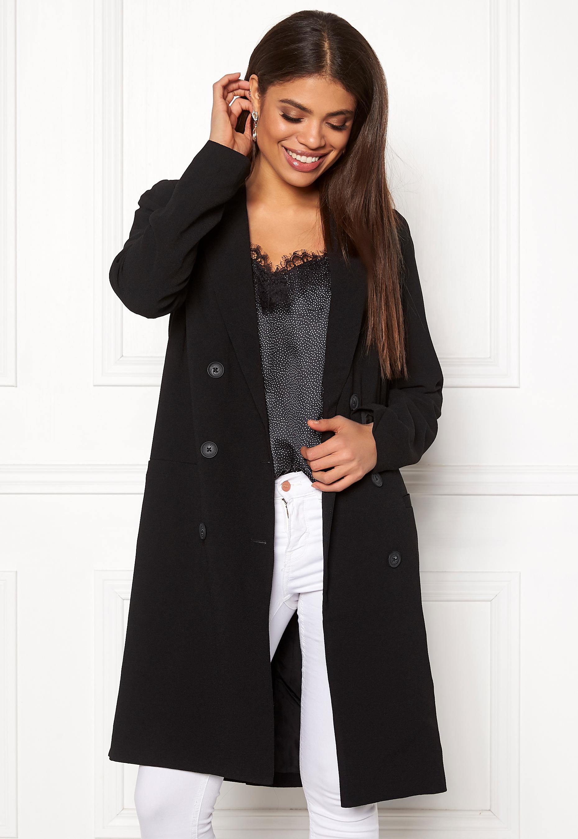 Svart Objbeau long coat black -  OBJECT  Kappor